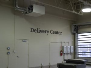 Delivery Center sign
